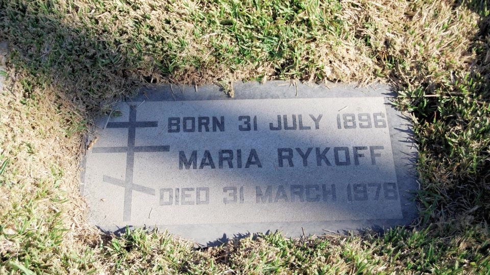 Могила/надгробие РЫКОВ Мария / Maria