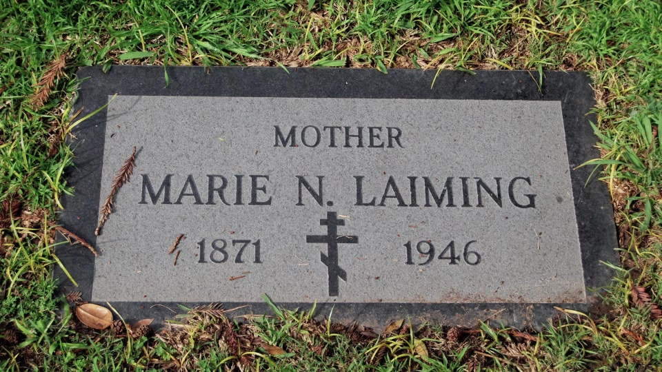 Grave/tombstone of LAIMING Marie N.