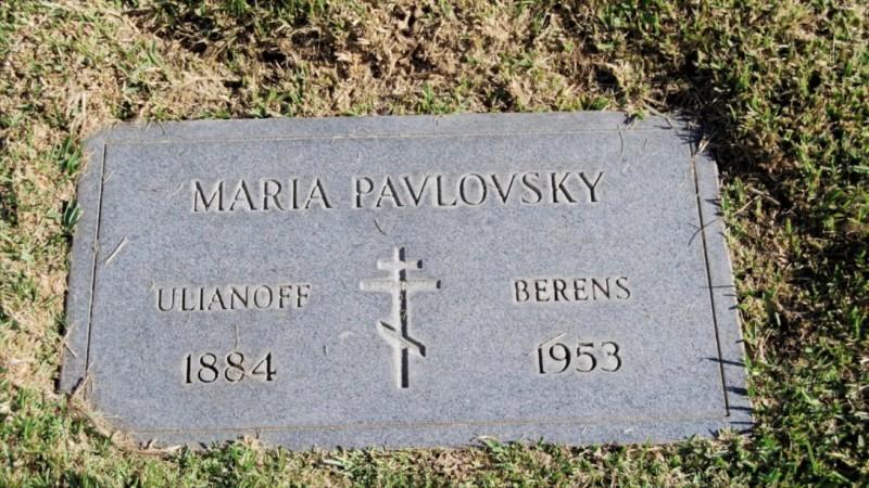 Grave/tombstone of PAVLOVSKY Maria