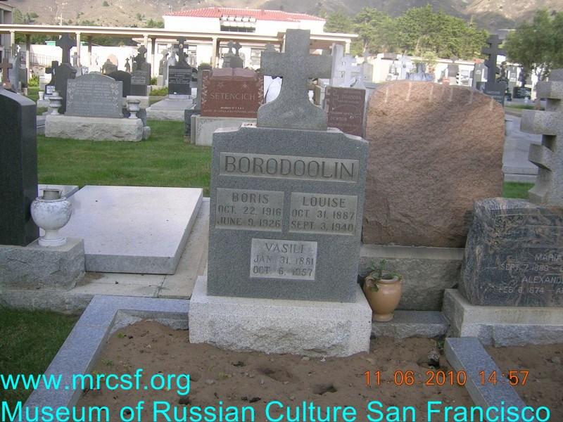 Grave/tombstone of BORODOOLIN Louise