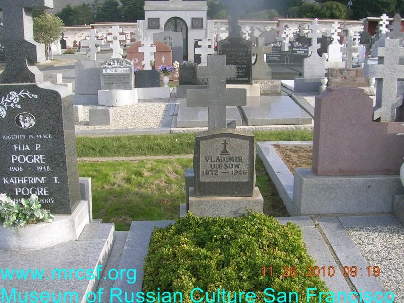 Grave/tombstone of UIOSOW Vladimir