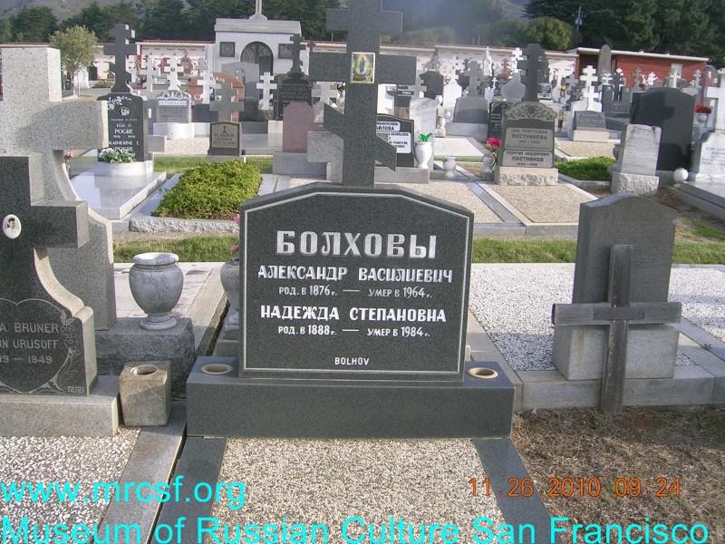 Могила/надгробие БОЛХОВА Надежда Степановна