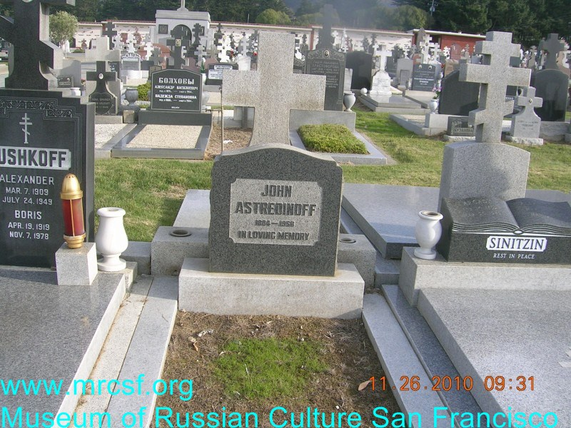 Могила/надгробие АСТРЕДИНОВ John