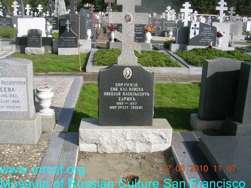 Grave/tombstone of HARIN Николай Васильевич