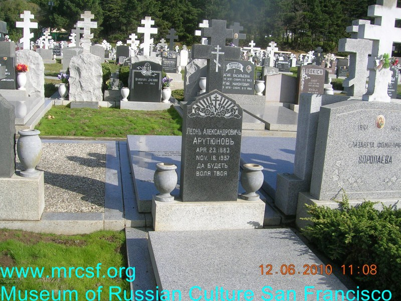 Grave/tombstone of ARUTIANOFF Леон Александрович