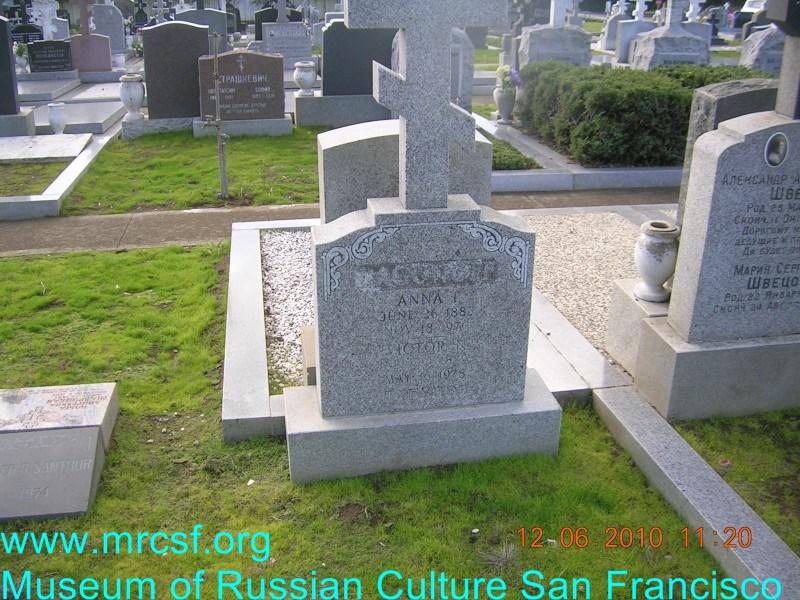Grave/tombstone of LAGUNOFF Анна И.