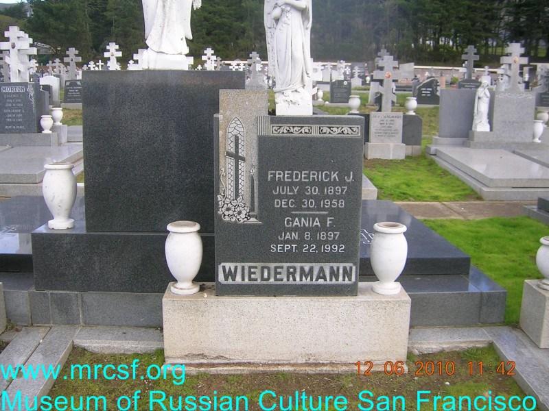 Grave/tombstone of WIEDERMANN Gania F.