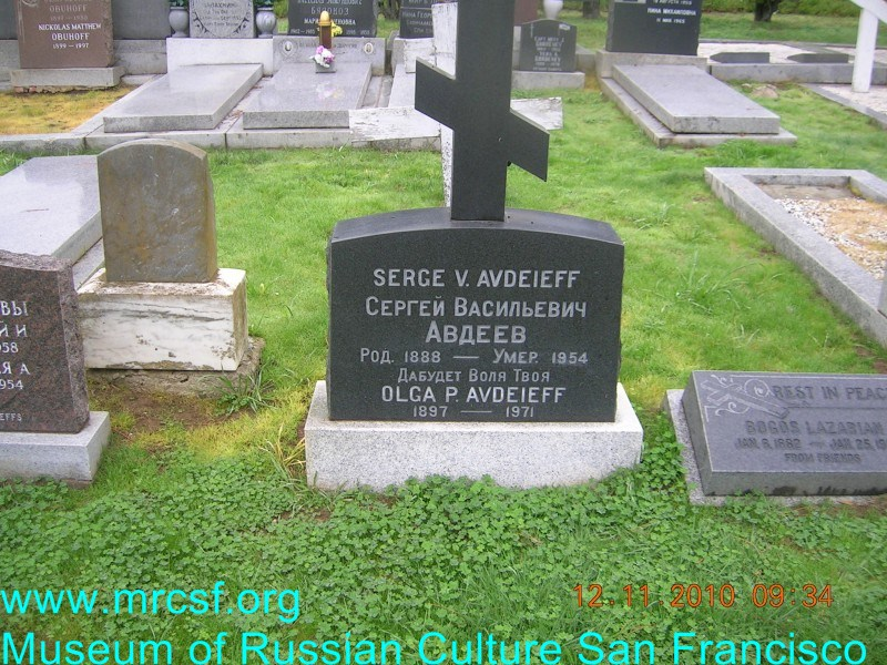 Grave/tombstone of AVDEEFF Сергей Васильевич