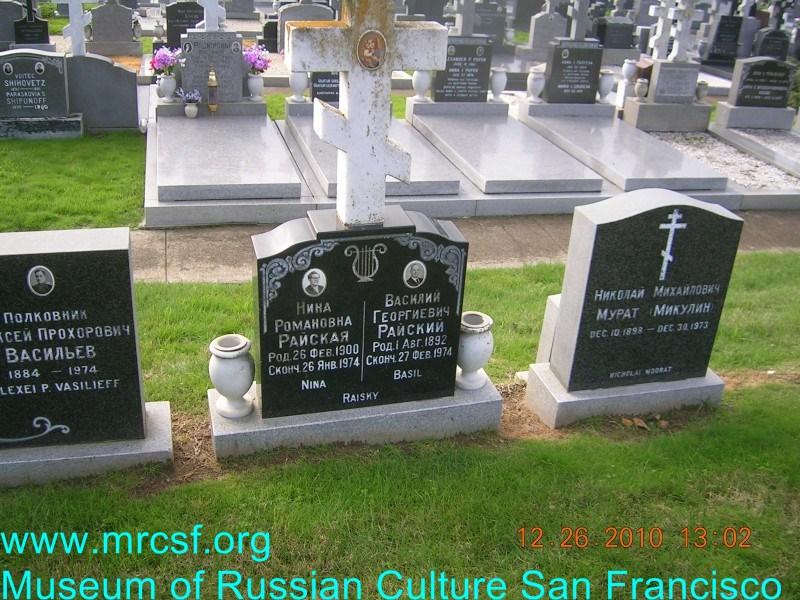 Grave/tombstone of RAISKY Василий Георгиевич