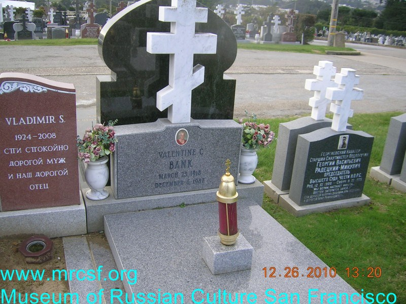Grave/tombstone of BANK Valentine C.