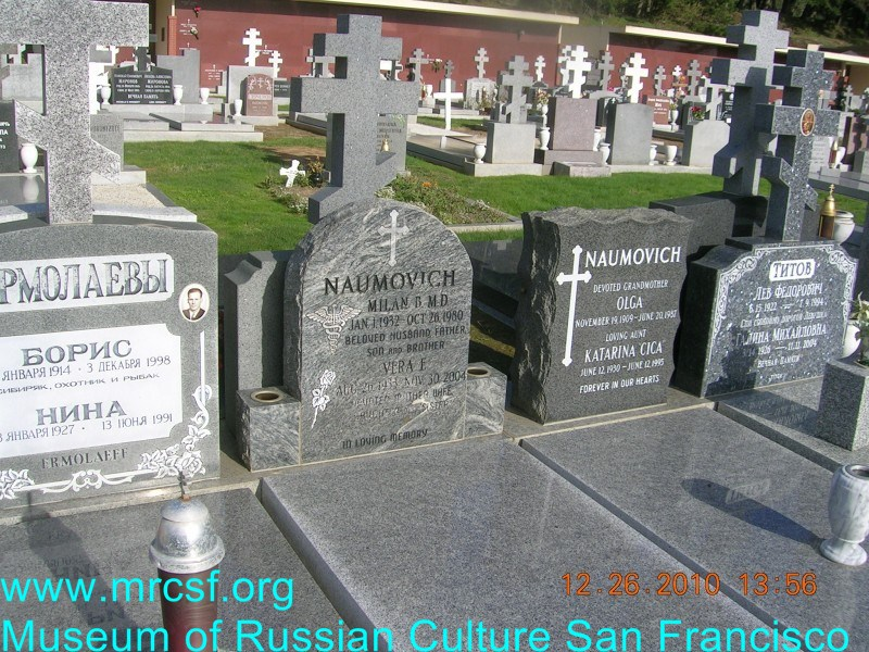 Grave/tombstone of NAUMOVICH Milan B.