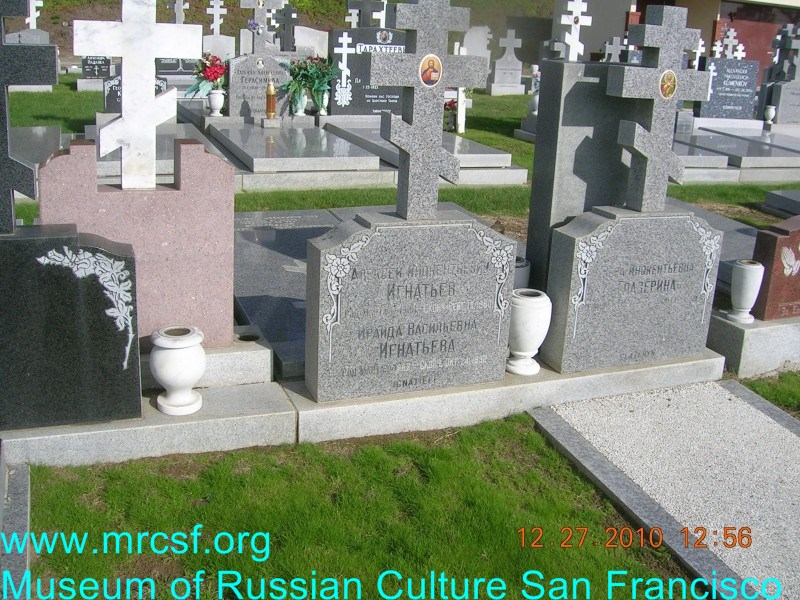 Grave/tombstone of IGNATIEFF Ираида Васильевна