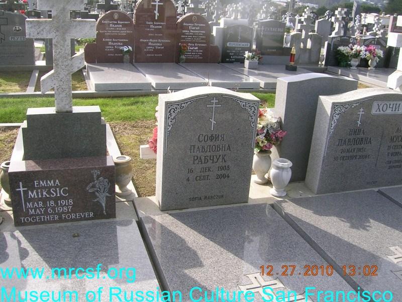 Grave/tombstone of RABCHUK София Павловна