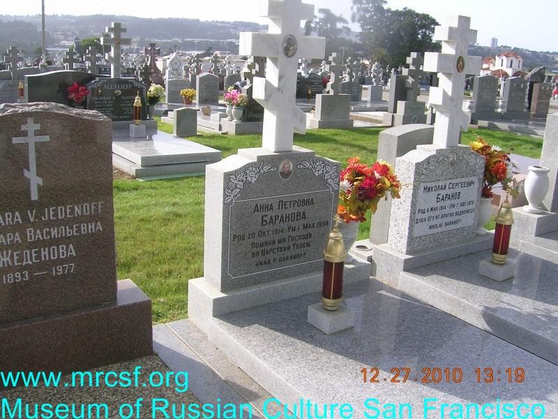 Могила/надгробие БАРАНОВА Анна Петровна