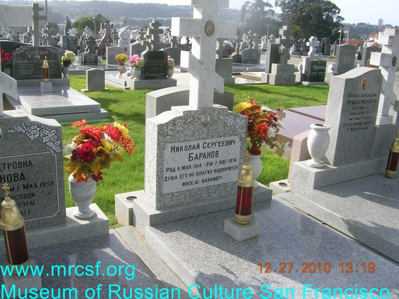Grave/tombstone of BARANOFF Николай Сергеевич
