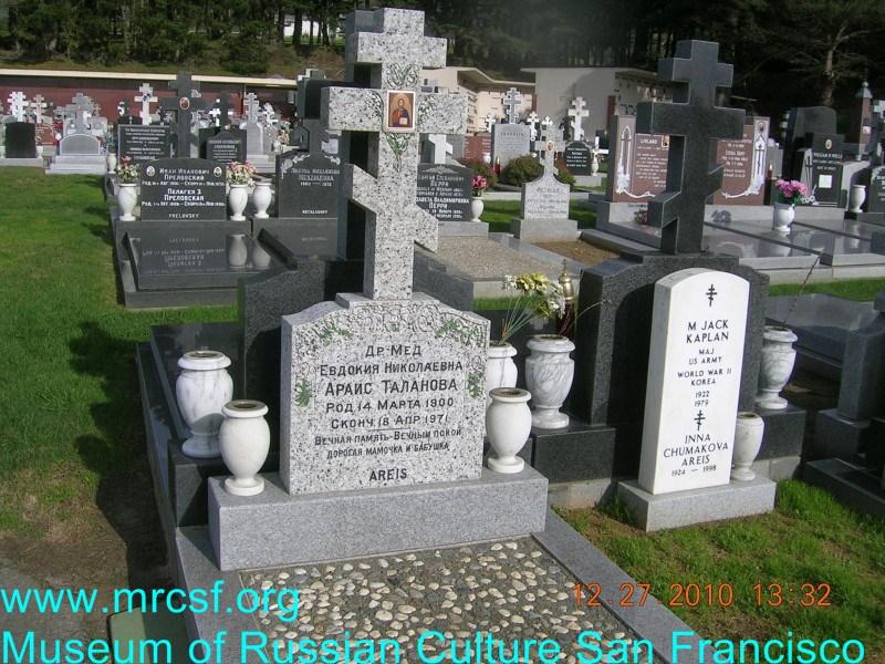 Grave/tombstone of AREIS Евдокия Николаевна