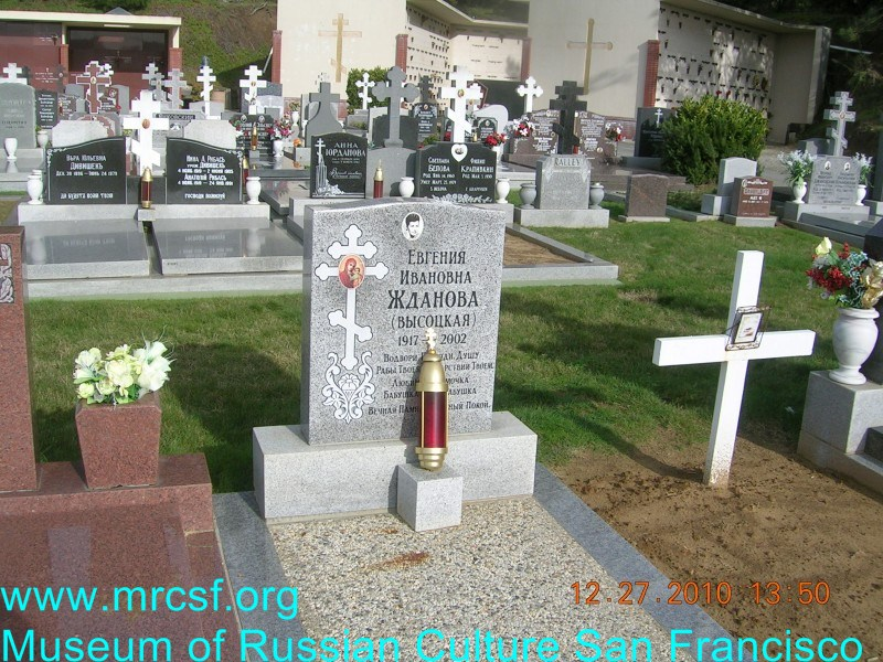 Grave/tombstone of JDANOFF Евгения Ивановна