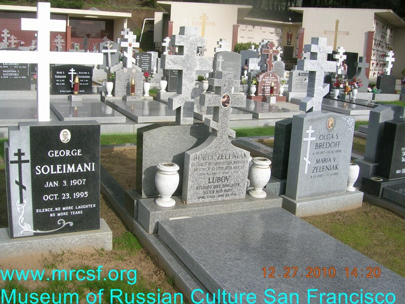 Могила/надгробие ЗЕЛЕНЯК Борис