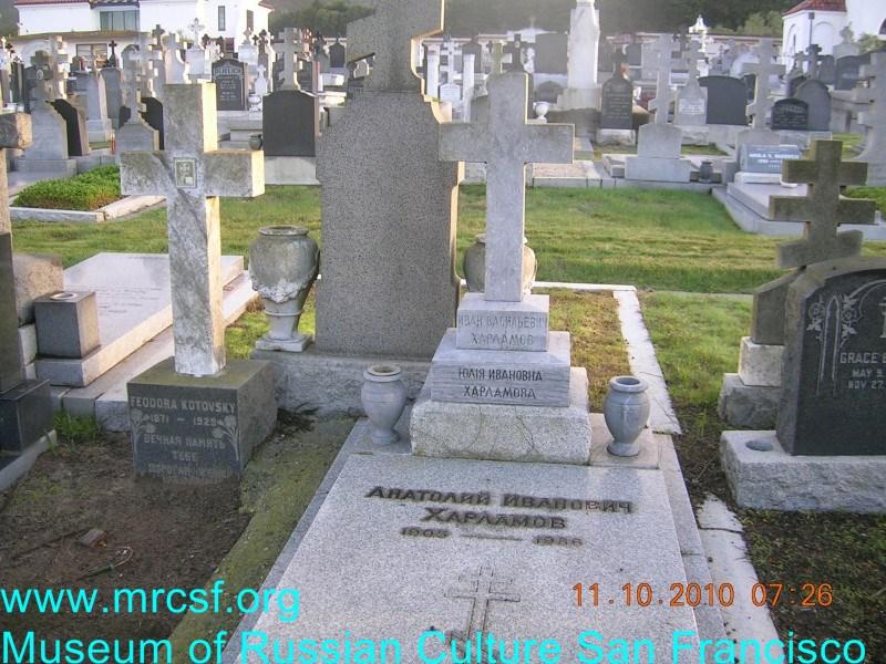 Grave/tombstone of HARLAMOFF Иван Васильевич