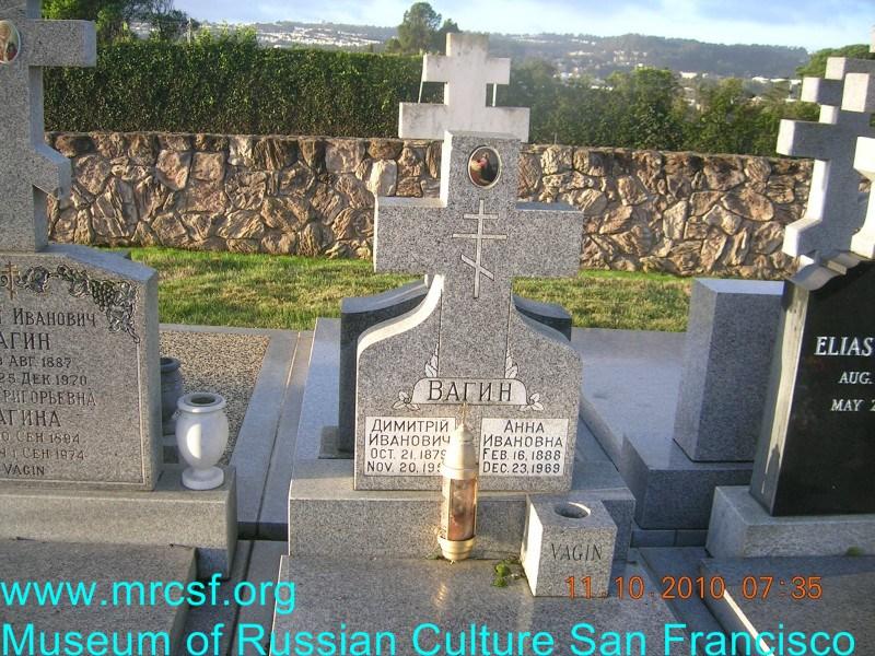 Grave/tombstone of VAGIN Димитрий Иванович