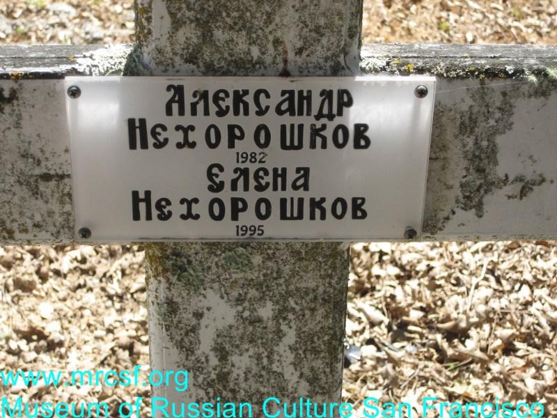 Могила/надгробие НЕХОРОШКОВА Елена