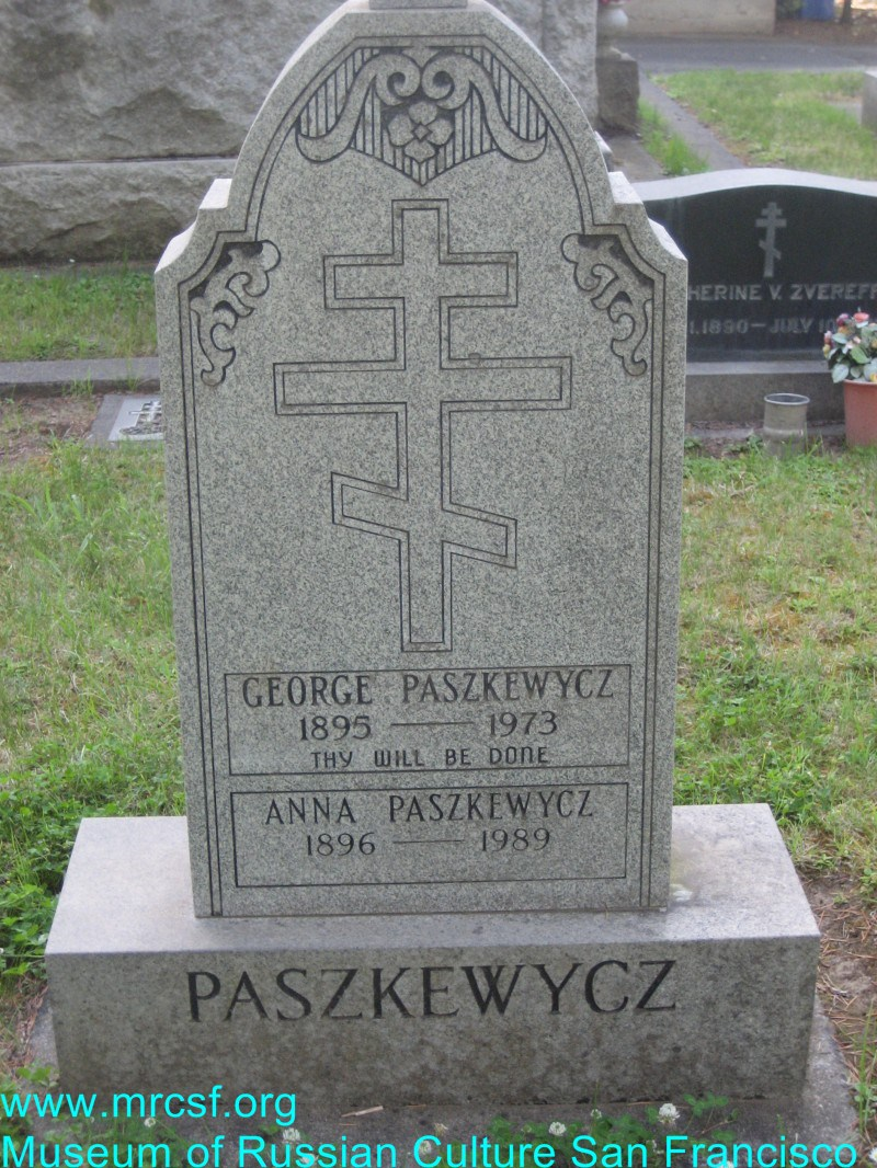 Grave/tombstone of PASZKEWYCH Anna