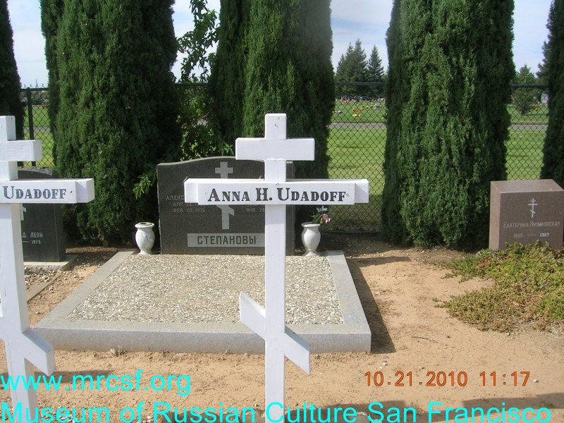 Grave/tombstone of UDATOFF Anna H.