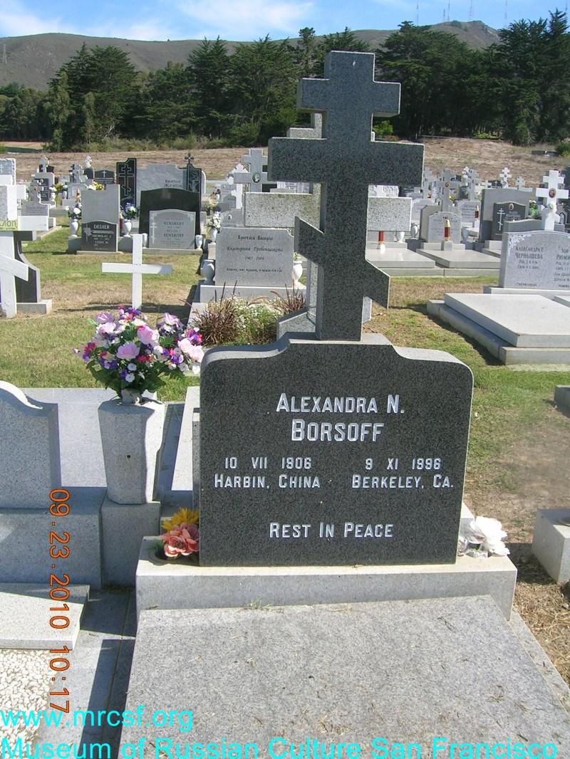 Могила/надгробие БОРЗОВА Alexandra N.