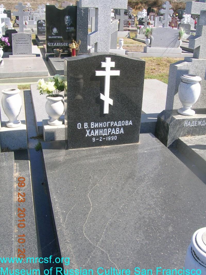Grave/tombstone of HAINDRAVA О. В.