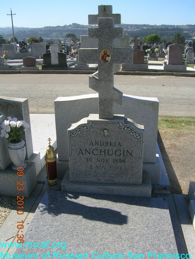 Grave/tombstone of ANCHUGIN Andreia