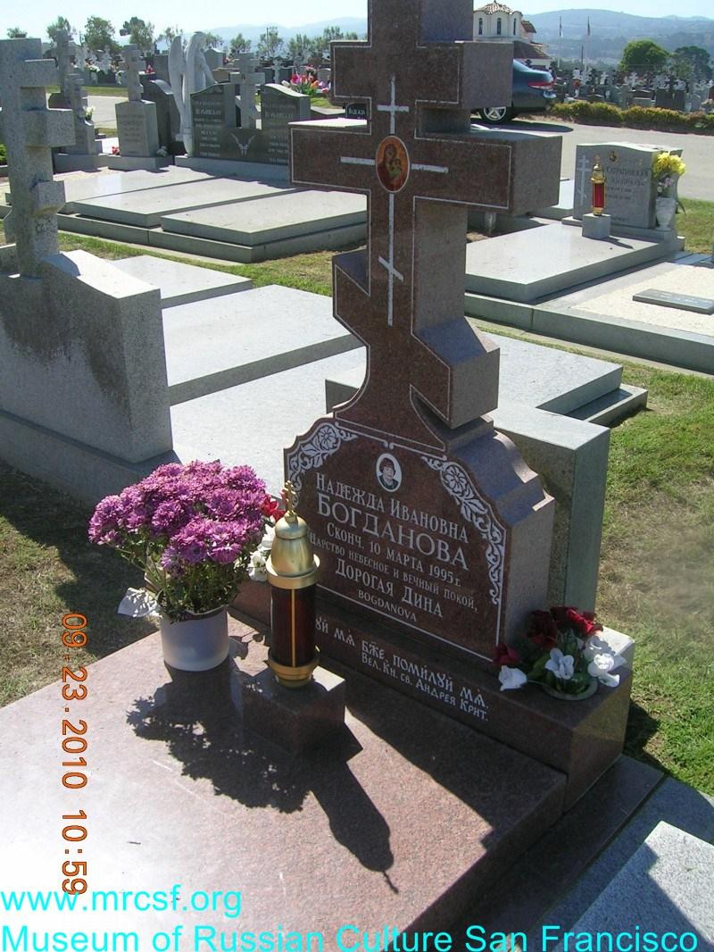 Grave/tombstone of BOGDANOVA Надежда Ивановна
