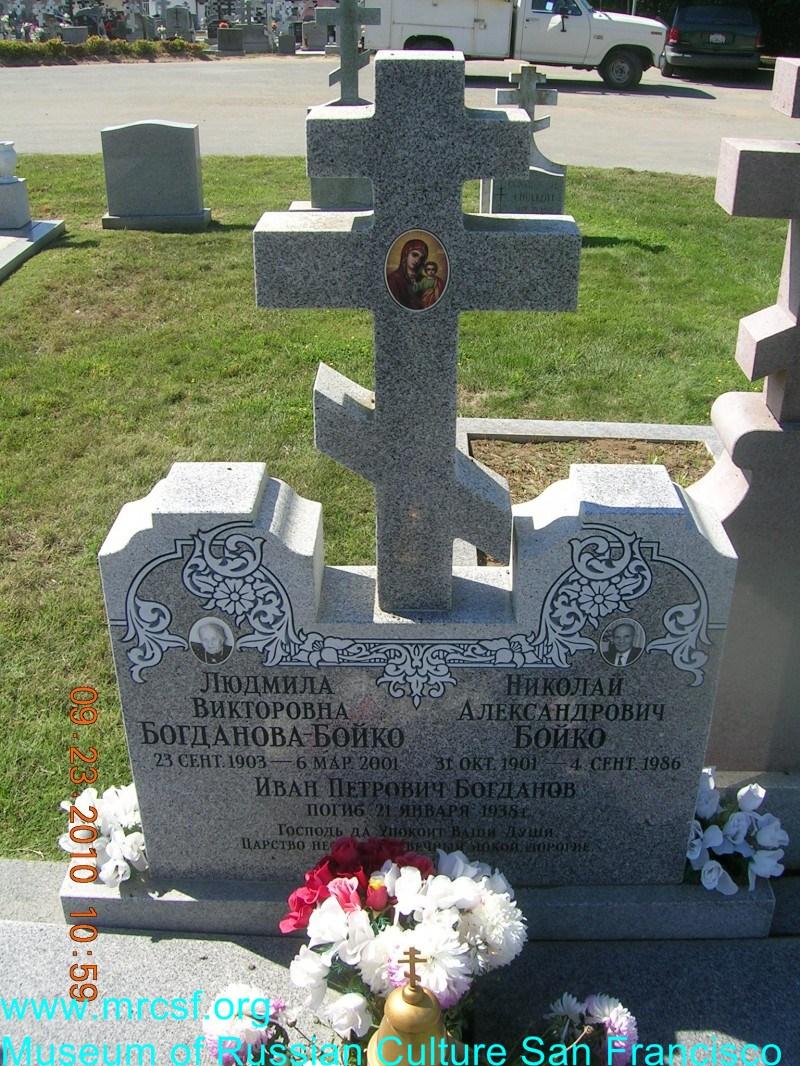Grave/tombstone of BOGDANOFF Иван Петрович