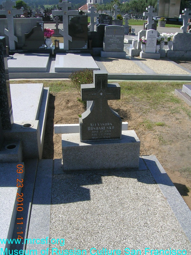 Grave/tombstone of BONDARENKO Alexandra