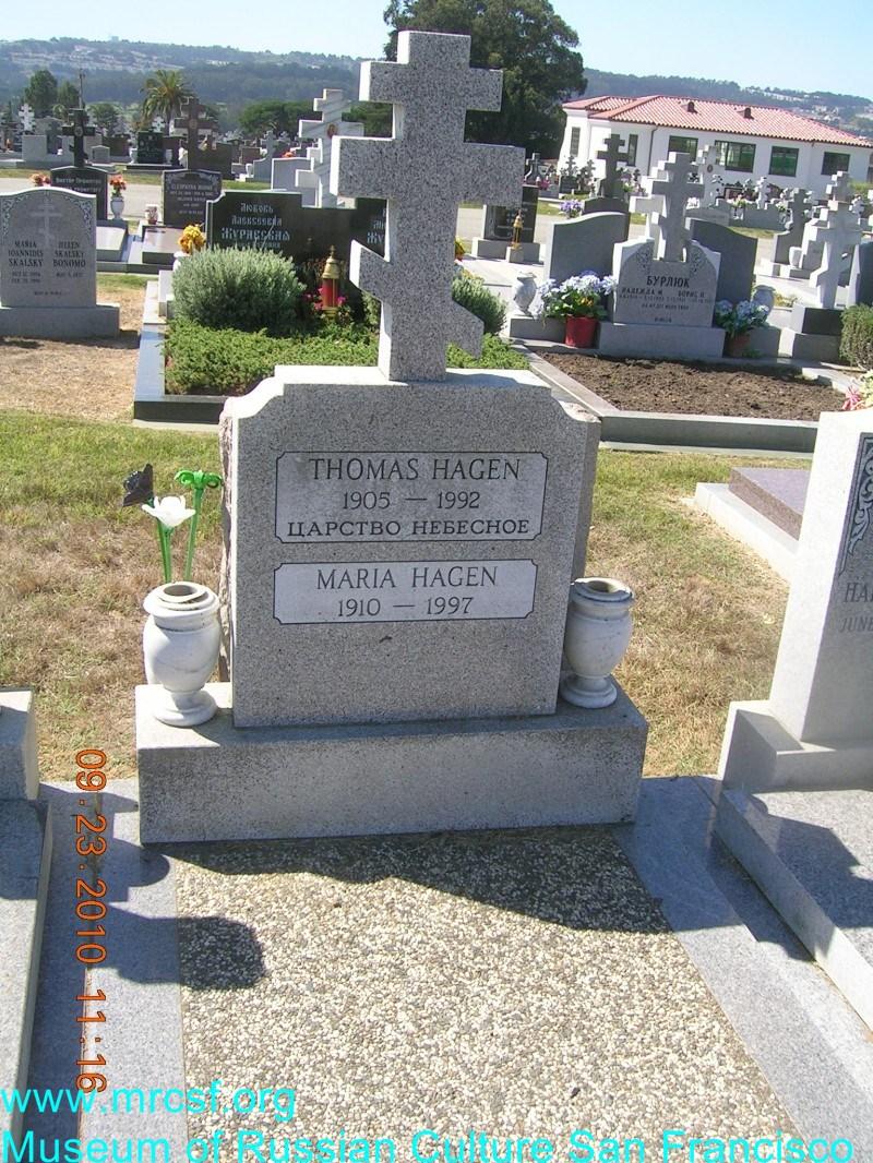 Grave/tombstone of HAGEN Thomas