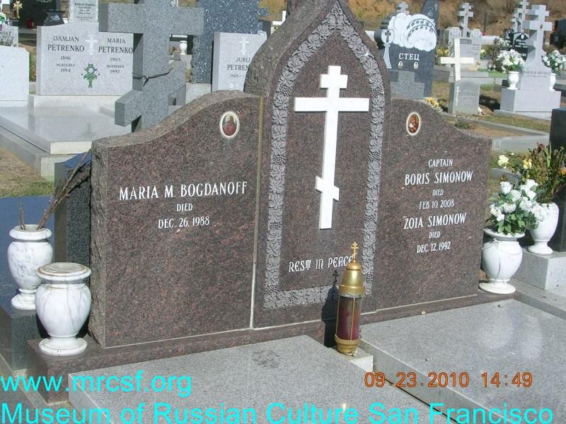 Grave/tombstone of BOGDANOFF Maria M.