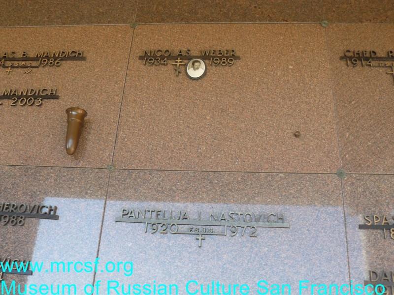 Grave/tombstone of WEBER Nicolas