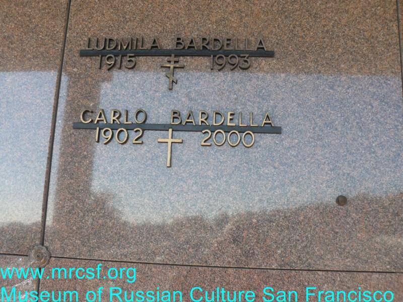 Grave/tombstone of BARDELLA Ludmila