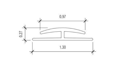 10 ft Nudo V-3 Division Bar Trim - Almond