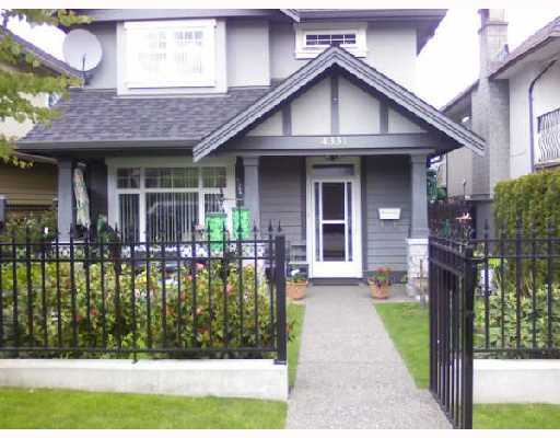 Main Photo: 4331 ALBERT Street in Burnaby: Vancouver Heights House 1/2 Duplex for sale (Burnaby North)  : MLS® # V714565