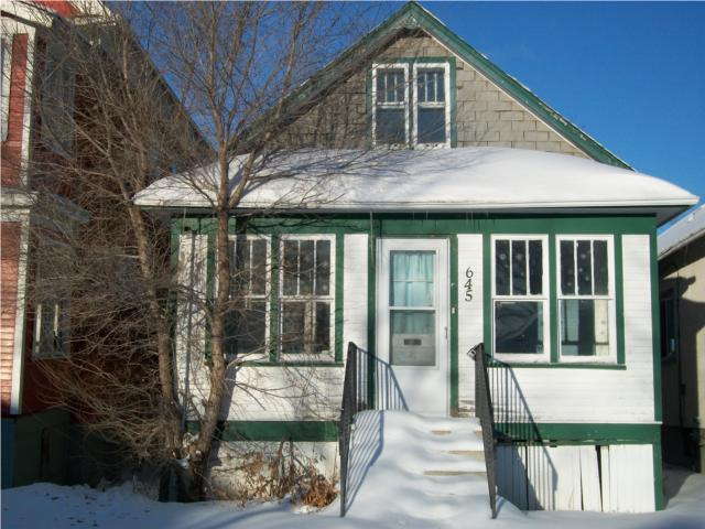 Main Photo: 645 College Avenue in WINNIPEG: North End Residential for sale (North West Winnipeg)  : MLS® # 1001374