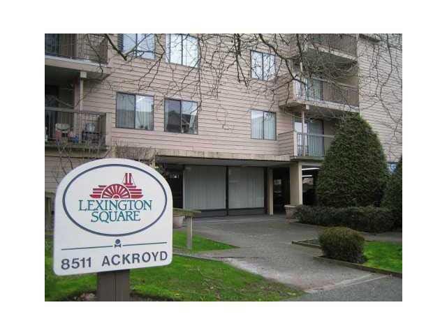 "Main Photo: 116 8511 ACKROYD Road in Richmond: Brighouse Condo for sale in ""LEXINGTON SQUARE"" : MLS® # R2121776"
