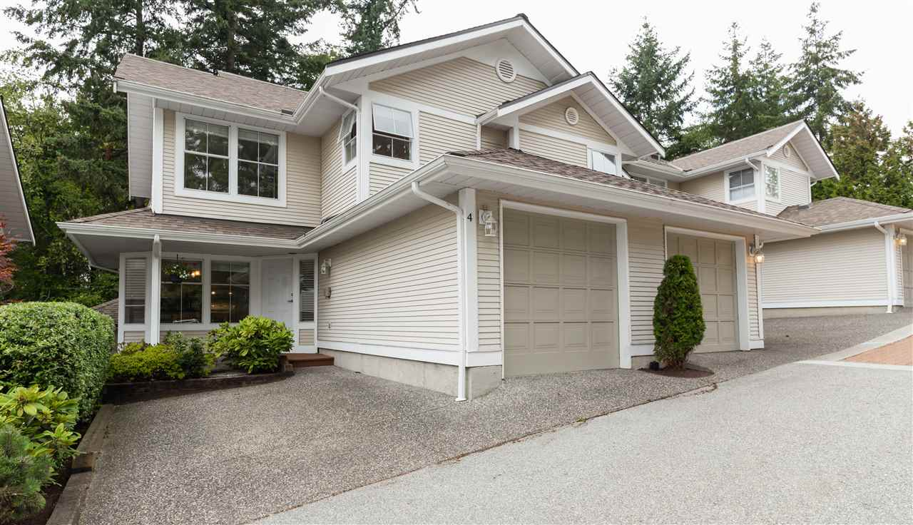 Main Photo: 4 2590 PANORAMA Drive in Coquitlam: Westwood Plateau Townhouse for sale : MLS®# R2302882