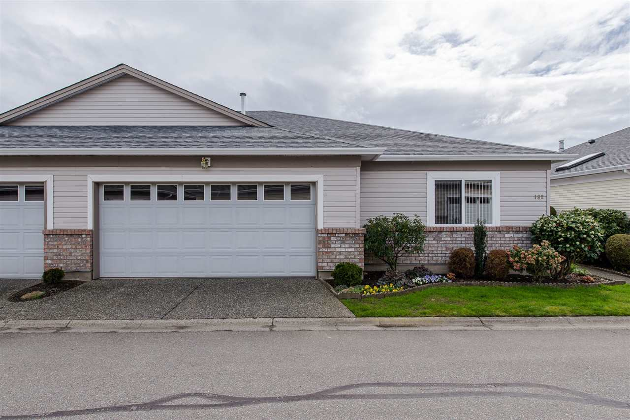 "Main Photo: 182 8485 YOUNG Road in Chilliwack: Chilliwack W Young-Well House 1/2 Duplex for sale in ""Hazelwood Grove"" : MLS®# R2154383"