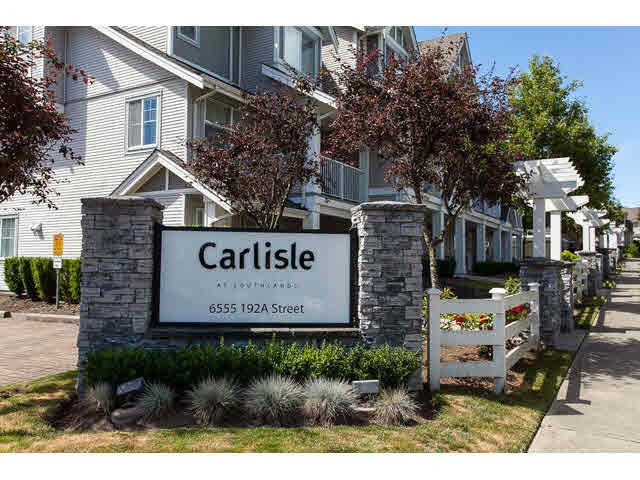 "Main Photo: 44 6555 192A Street in Surrey: Clayton Townhouse for sale in ""The Carlisle"" (Cloverdale)  : MLS®# R2037162"