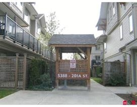 Main Photo: 23 5388 201A Street in Langley: Langley City Townhouse for sale : MLS®# R2040220