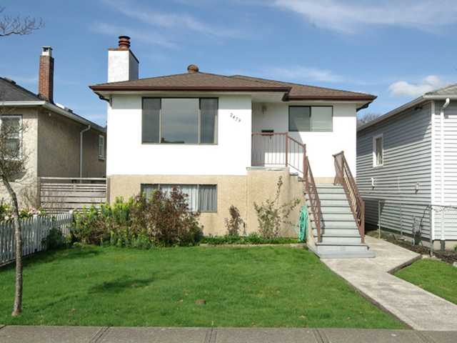 Main Photo: 2479 E GEORGIA Street in Vancouver: Renfrew VE House for sale (Vancouver East)  : MLS®# V1055540