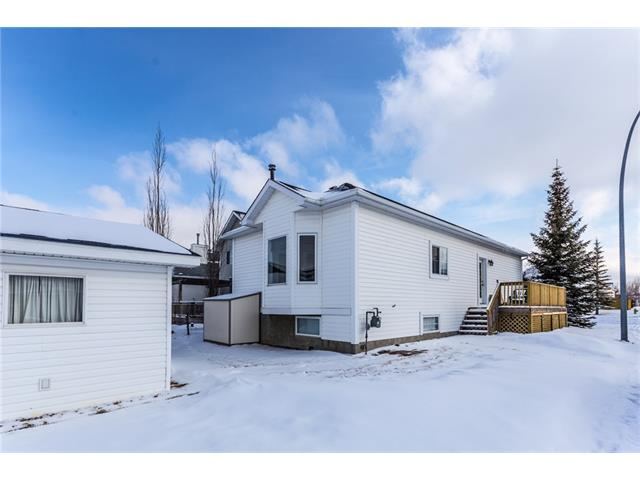Double detached garage. Storage shed included. Grassed backyard.