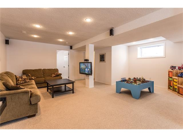 Huge basement rec room and family room.