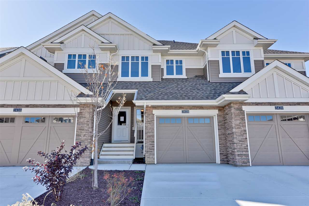 Main Photo: 3418 CAMERON HEIGHTS Cove in Edmonton: Zone 20 Attached Home for sale : MLS® # E4085460