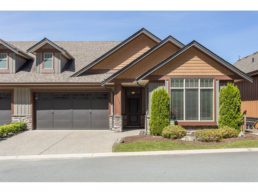 "Main Photo: 16 43540 ALAMEDA Drive in Chilliwack: Chilliwack Mountain Townhouse for sale in ""RETRIEVER RIDGE"" : MLS®# R2174527"
